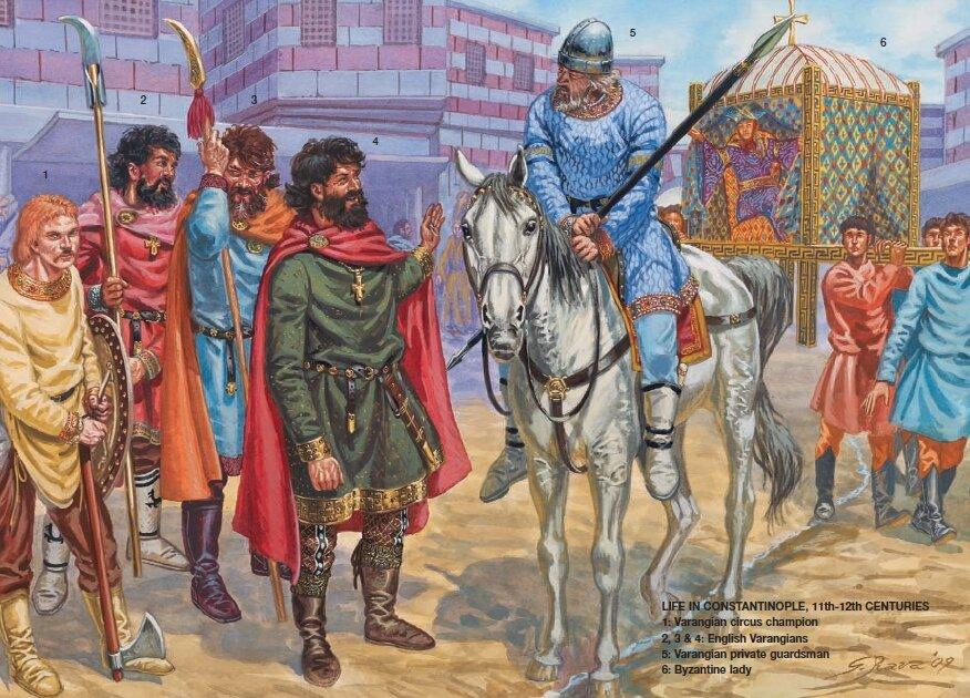 Варяги в Константинополе в XI-XII веках.
